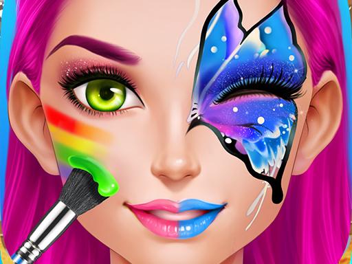 Image Face Paint Party! Girls Salon