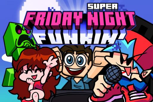 Image Super Friday Night Funki vs Minecraft