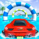 Water Surfing Car Stunts Car Racing Game